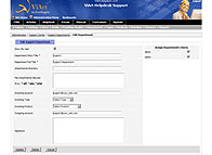 php helpdesk department editimg page